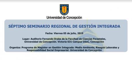 Séptimo Seminario Regional de Gestión Integrada