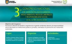 Convocatoria para presentar trabajados: 3er CONGRESO NACIONAL DE GESTIÓN INTEGRADA